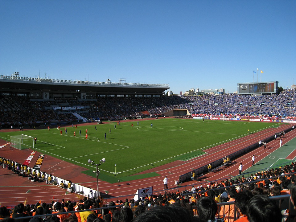 Japan, Soccer, Football, Field, Stadium, Fans
