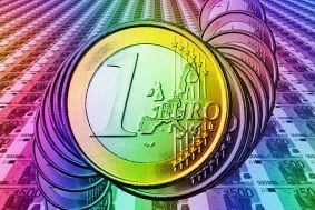 Euro, Geld, Währung, Münze, Schein Kreditanfrage erfolgreich.