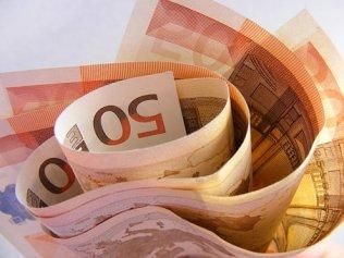 Geld, Euro, Bargeld, Währung, Ergebnis Kredit oder Darlehen.