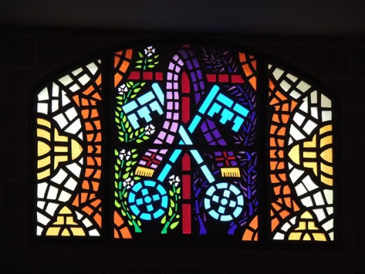 Mosaic, Window, Rosette, Church, Glass, Colors