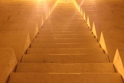 階段, 光, テンプル, 光の光線, 太陽