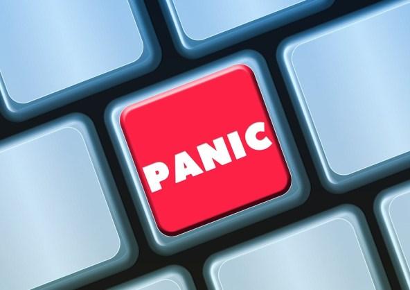 キーボード, ボタン, パニック, 恐怖, 不安, 興奮, ヒースの恐怖, Höllenangst, 混乱
