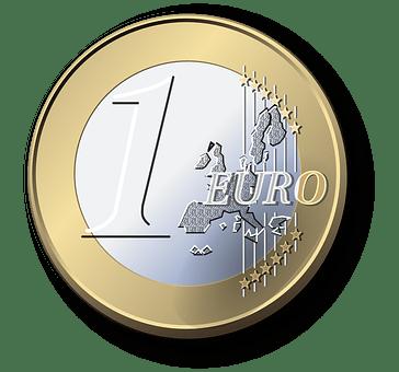 ユーロ, コイン, お金, 通貨, 富, ファイナンス, をカットします