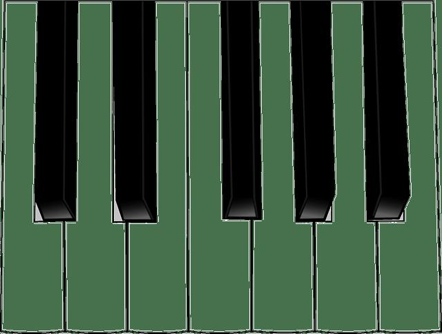 피아노 건반 음악 · Pixabay의 무료 벡터 그래픽