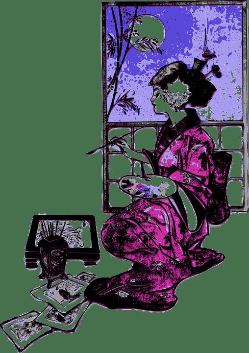 Free Vector Graphic Geisha Japan Woman Girl Artist