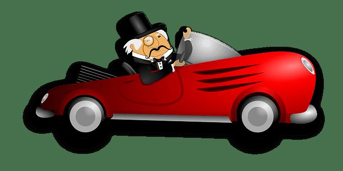 Car, Red, Driver, Gentleman, Affluence