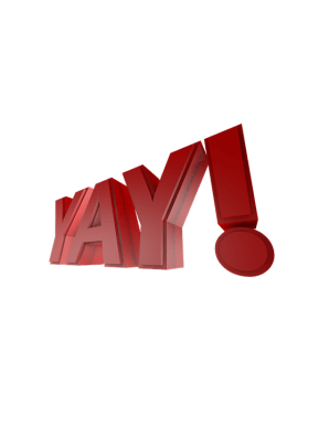 Perspective, 3D Text, Yay, 3-Dimensional, 3 Dimensional
