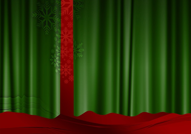 Free Illustration Curtain Green Red Advent Free