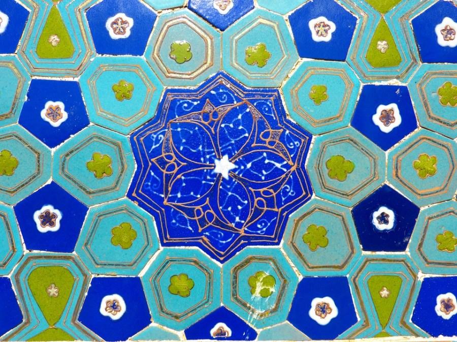 Patrones geométricos en el arte islámico