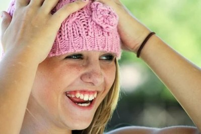 Girl, Hat, Happy, Laughing, Face, Cute