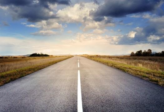 Strada, Asfalto, Cielo, Nuvole, Caduta, Panorama, Campo