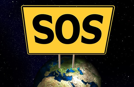 Sos, Erde, Globus, Welt, Zustand, All
