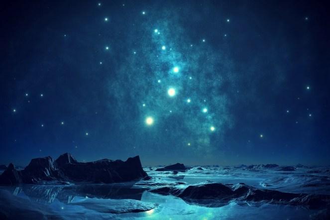 Azul, Céu, Noite, Romântico, Quase Noite, À Noite, Água