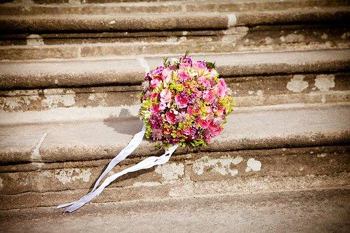 Kwiaty, Bukiet Ślubny, Ślub, Bukiet