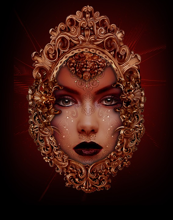 Free Illustration Woman Tattoo Indian Face Free