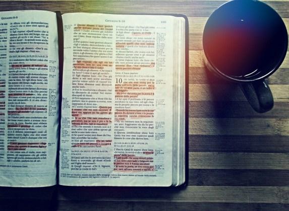 聖書, コーヒー, 読書, ドリンク, 本, テーブル, 木造, キリスト教, 福音, 宗教, 茶, 神聖な