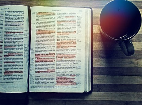 Bible, Coffee, Reading, Drink, Book
