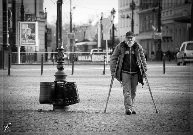 Man Old Old Man Person Crutches Free Photo On Pixabay