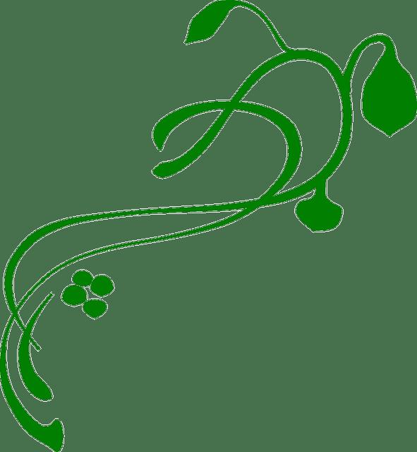 Free Vector Graphic Flourish Vine Green Flower Free