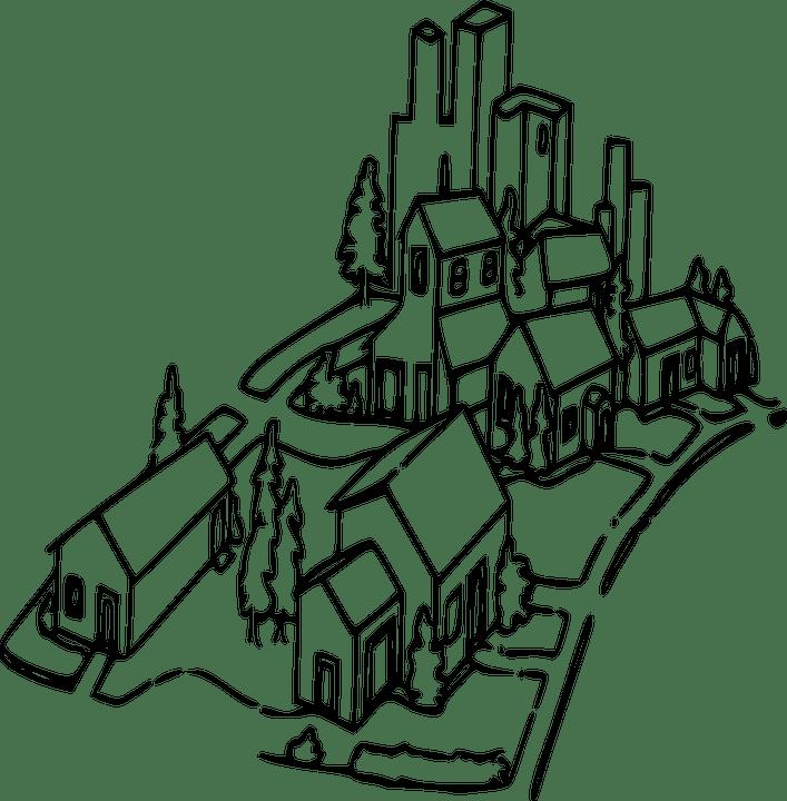 Lingkungan Rumah Komunitas Gambar Vektor Gratis Di Pixabay