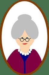 Old Female Woman Face Person Grandma Senio