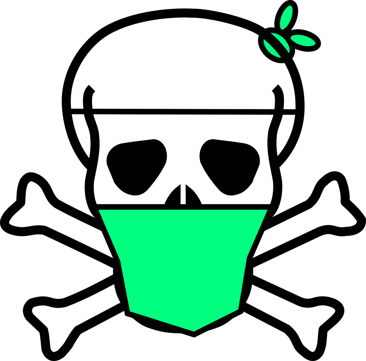 Skull Crossbones Surgical Mask Free Vector Graphic On Pixabay