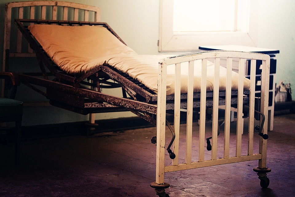 Free Photo Hospital Bed Gurney Old Building Free