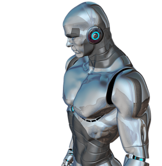 Man, Muscular, Robot, Cyborg, Android