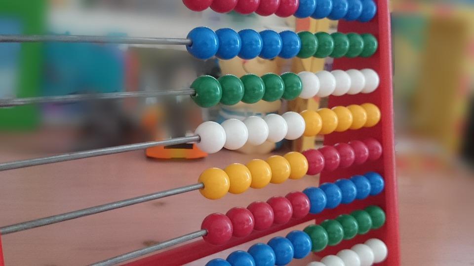 そろばん, 計算補助, 木製のボール, 数学, カウント