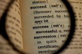 Image result for dictionary showing success