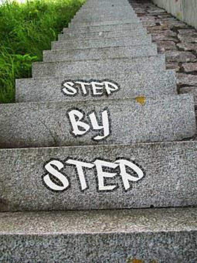Success Gradual Career Stairs Gradually Up
