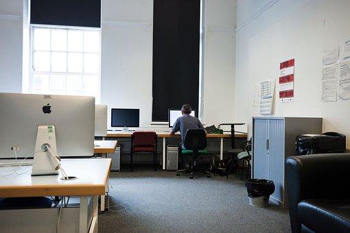 make a living online- Computer Room, Computer, Screens