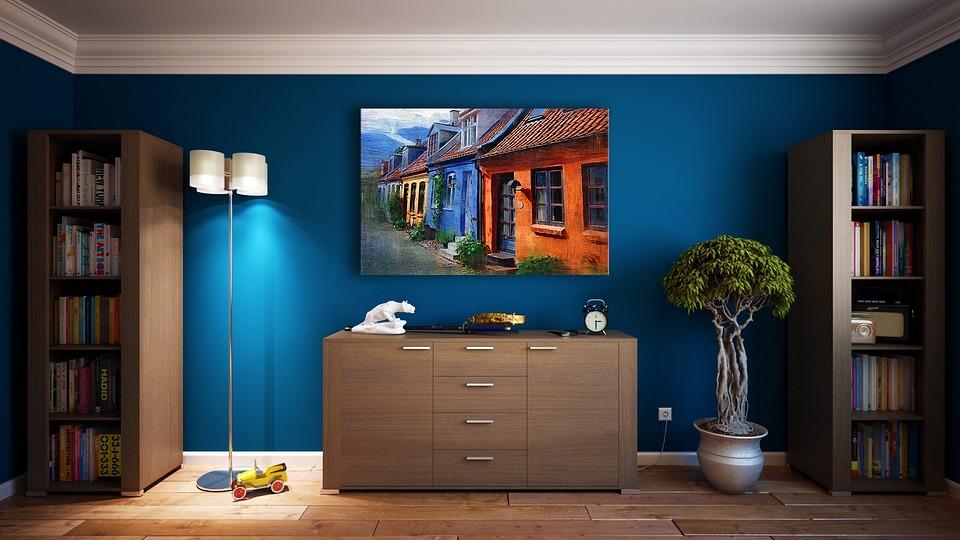 Pared, Muebles, Diseño, Apartamento, Habitación
