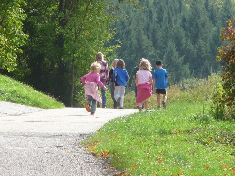 Familienausflug, Kinder, Ausflug, Wandern, Natur