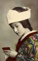 Geisha, Rétro, Millésime, Japonais, Asie