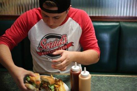 Fast Food, Homem, Comer, Burger