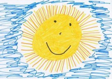 Sun Children Drawing Image Drawing Paint C