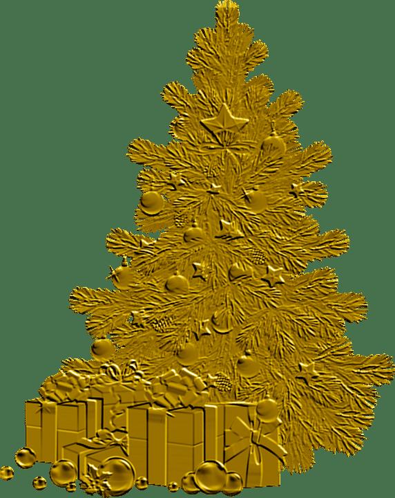Gold Weihnachtsbaum Kostenloses Bild Auf Pixabay