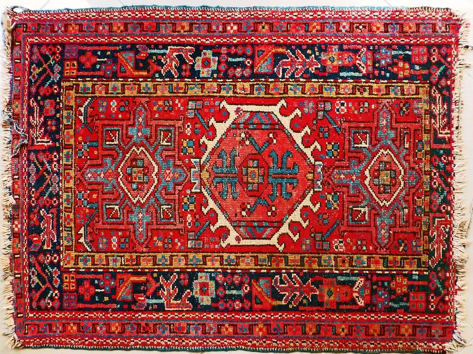 tapis perses rouge a la photo
