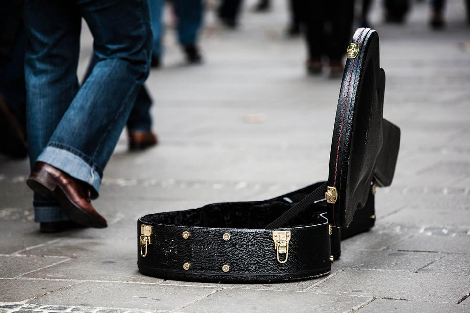Guitar Case, Street Musicians, Donate, Donation, Money