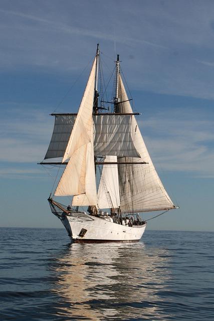 Free Photo Clipper Sail Boat Ocean Sea Free Image On Pixabay 487503