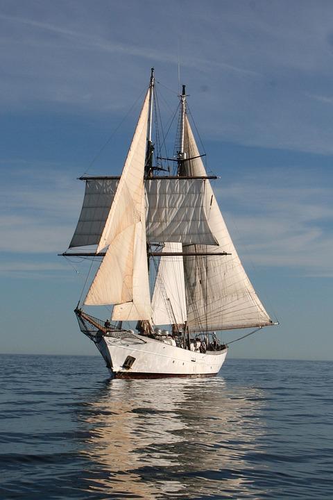 Free Photo Clipper Sail Boat Ocean Sea Free Image