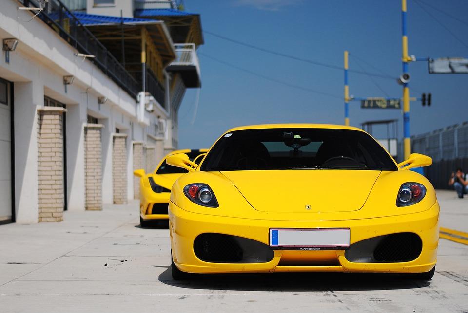 Free Photo Ferrari Yellow Sports Car Free Image On