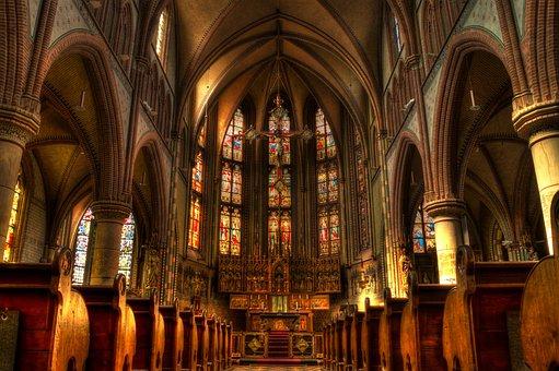 Church, Altar, Pews, Sacral Architecture, convert