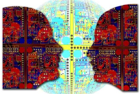 人工知能, コンピューター科学, 人, インテリジェント, 男, 電気工学, 技術, 開発者, 思う