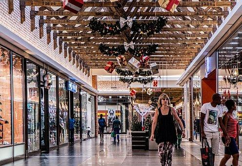 ショッピング モール, 女性, ショッピング, ストア, 小売, センター