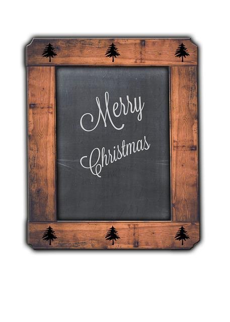 Free Photo Merry Christmas Blackboard Rustic Free