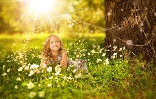 Mädchen, Niedlich, Natur, Glücklich