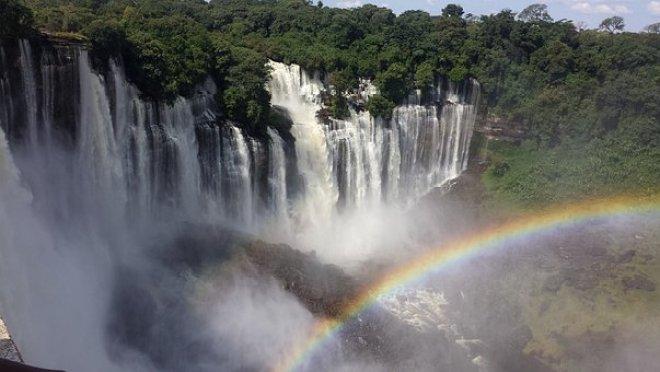Cataracts, Angola, Rainbow, Nature