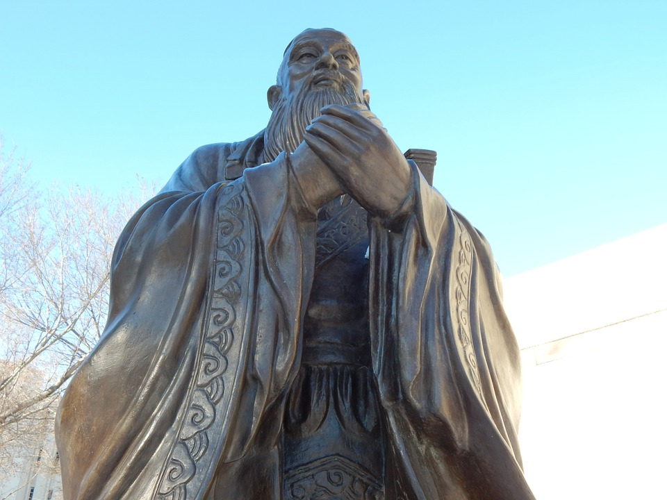 Confucius, Statue, Chinese, Sculpture, Philosophy